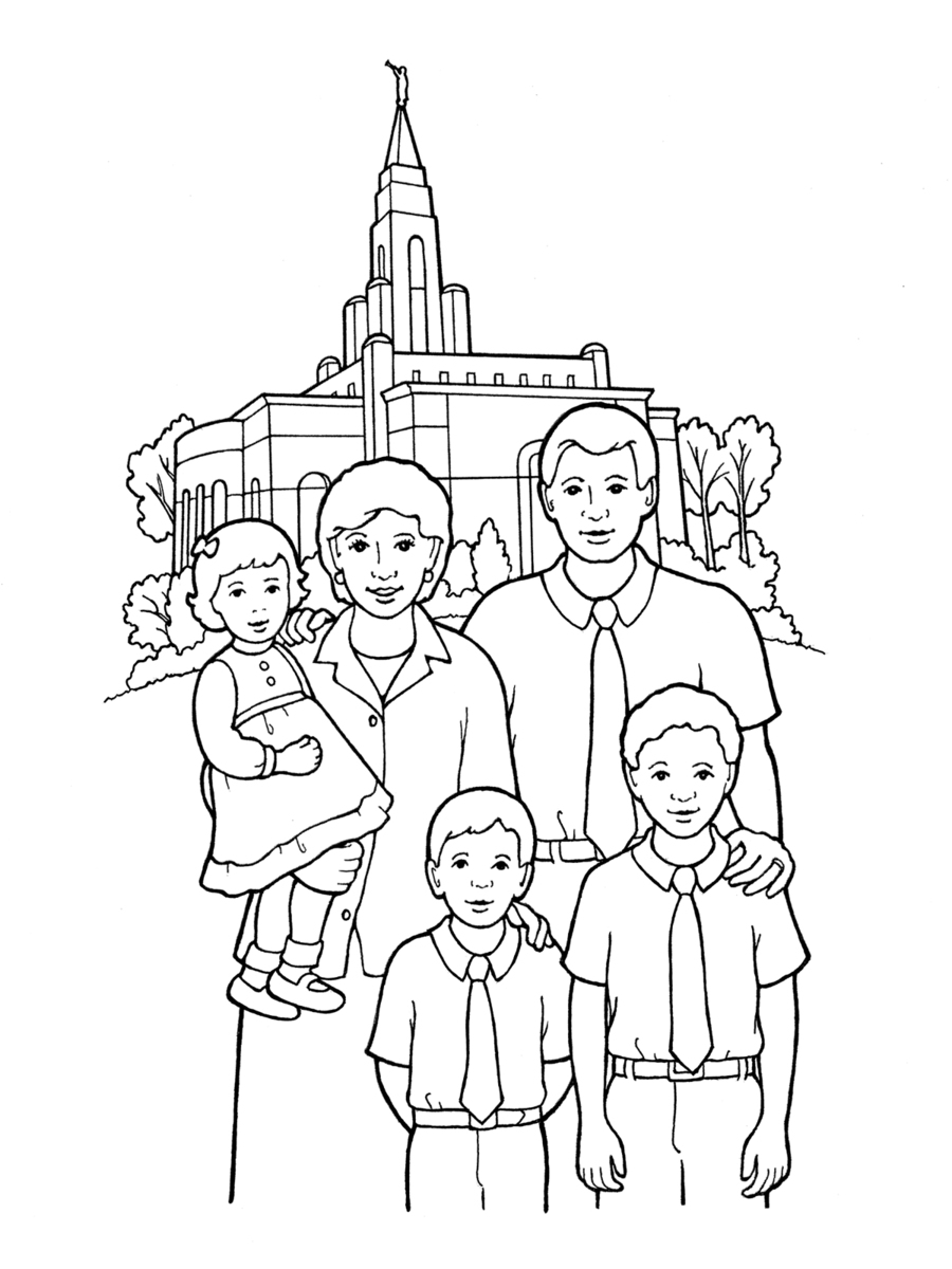 Download family at temple coloring page clipart San Diego Temple ...
