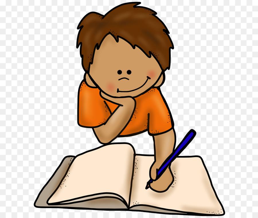 Writing baby. Boy cartoon clipart child