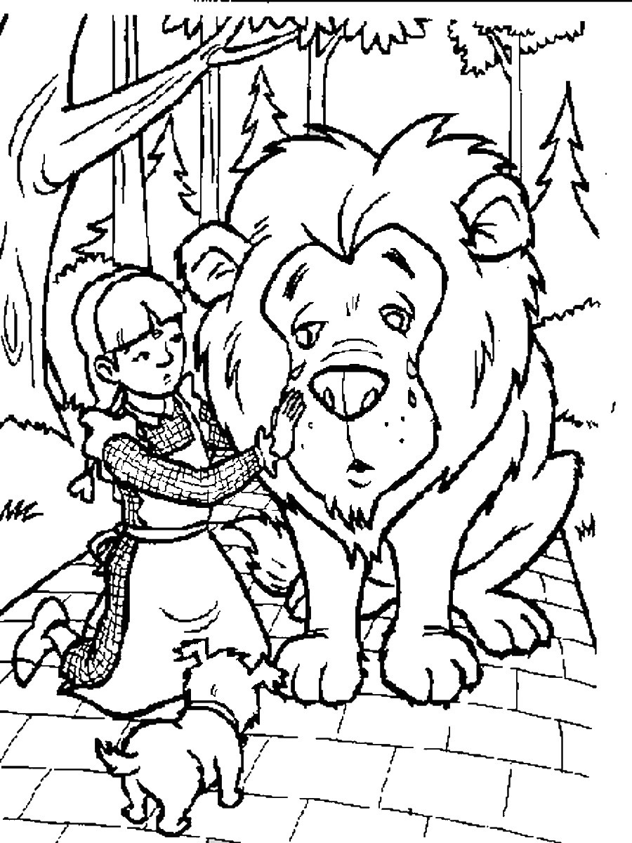 Download Wizard Of Oz Coloring Pages Lion Clipart The Wonderful Cowardly Scarecrow