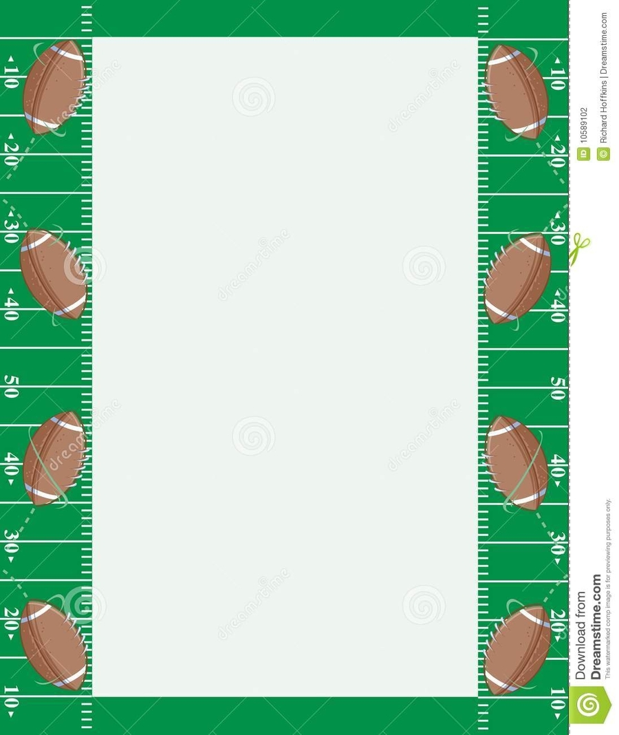 Download football border clipart Borders and Frames American ...