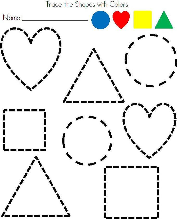 Download Preschool Shapes Worksheets Clipart Pre School Shape