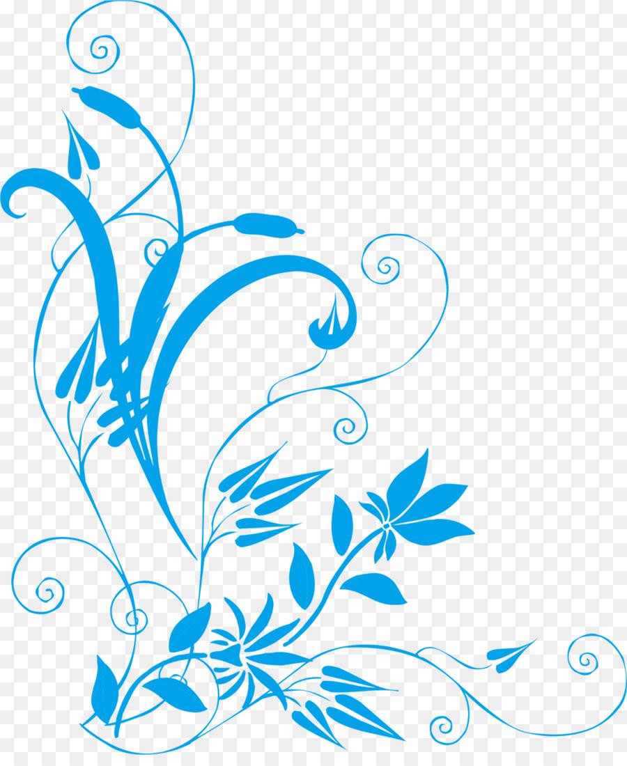 Black And White Flower clipart - Coreldraw, Design, Blue