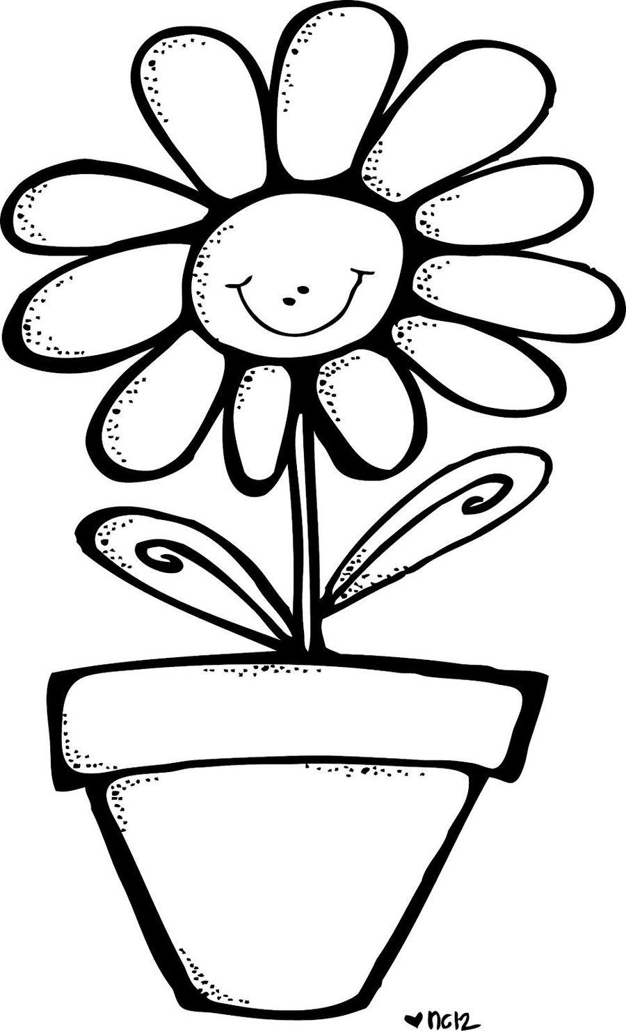 Download Melonheadz Flower Black And White Clipart Flower Clip Art