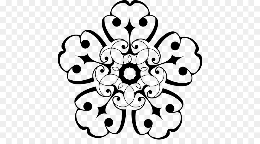 Black And White Flower clipart - Flower, White, Black ...