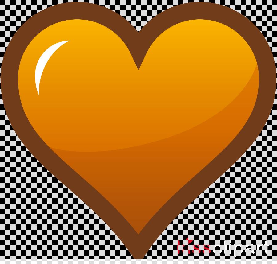 orange heart clipart Heart Clip art