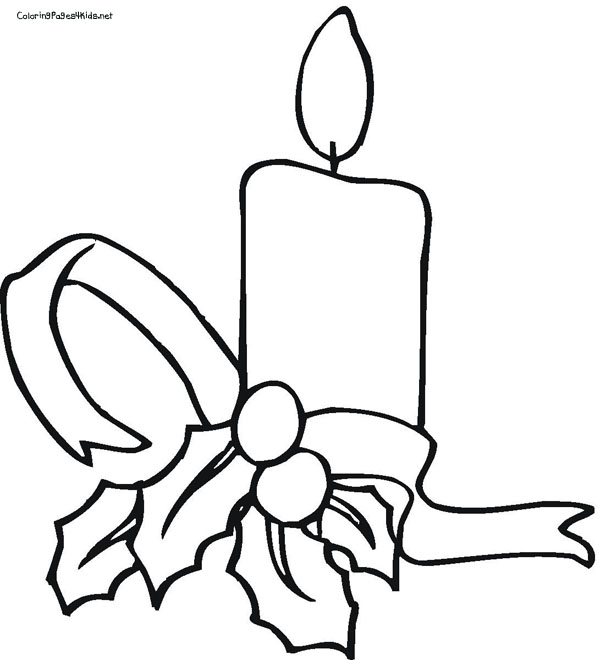 Candle Clipart To Color