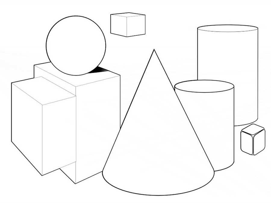 Download shapes coloring pages clipart Coloring book Colouring Pages ...
