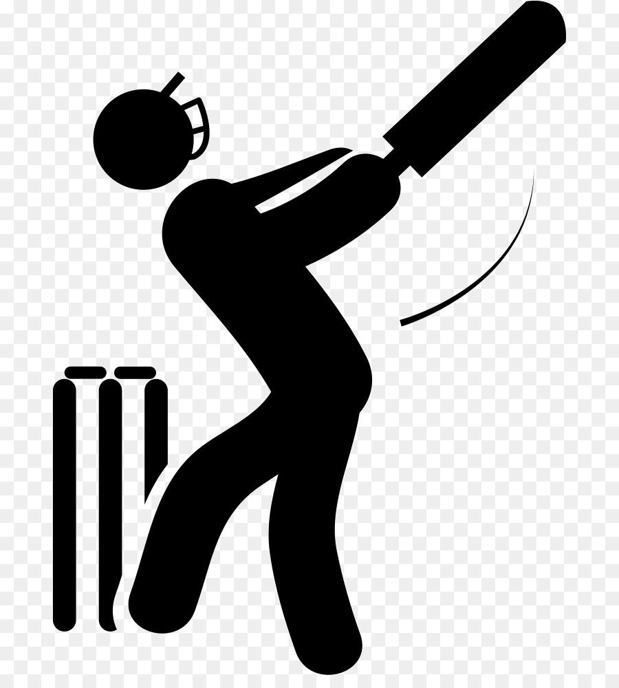India National Cricket Team clipart - Cricket, Black