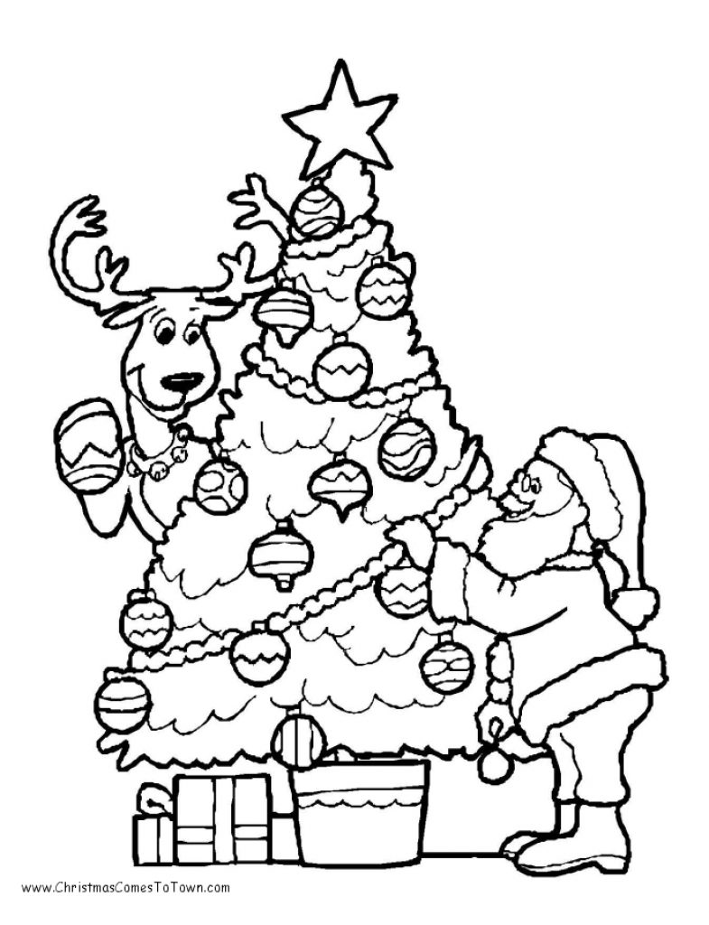 Reindeer Tree White Cartoon Art Hand Font Line Design