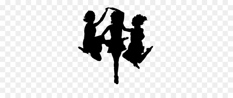 White Background People Clipart Dance Silhouette Graphics Transparent Clip Art