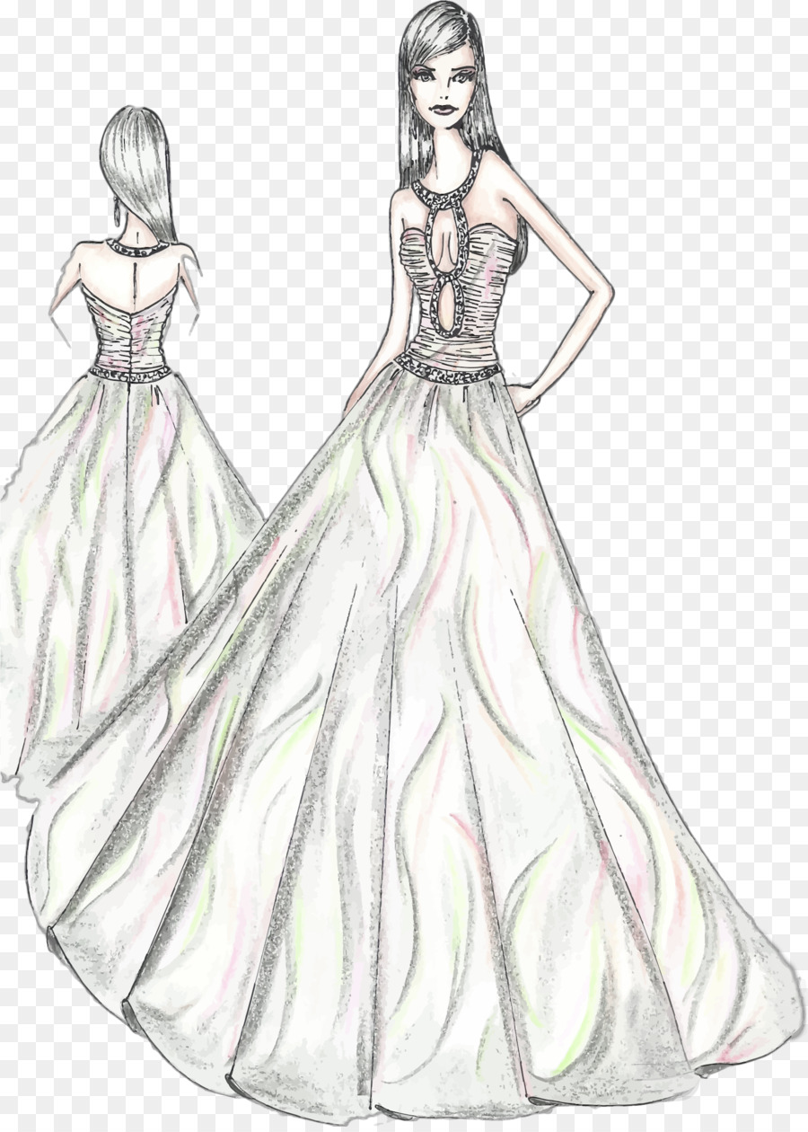 fashion dress sketch clipart Dress Fashion illustration Drawing