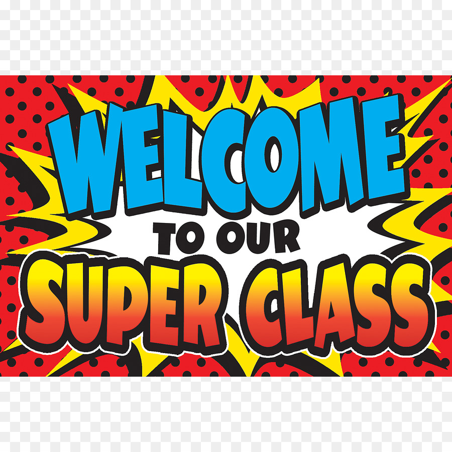Classroom welcome. Superhero background clipart text