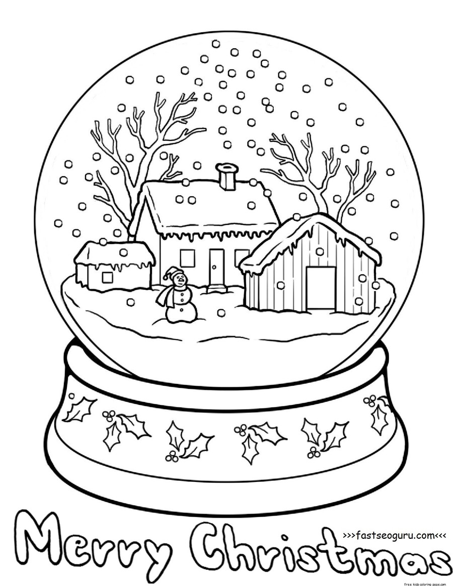 christmas snow globe coloring pages clipart christmas coloring pages coloring book colouring pages