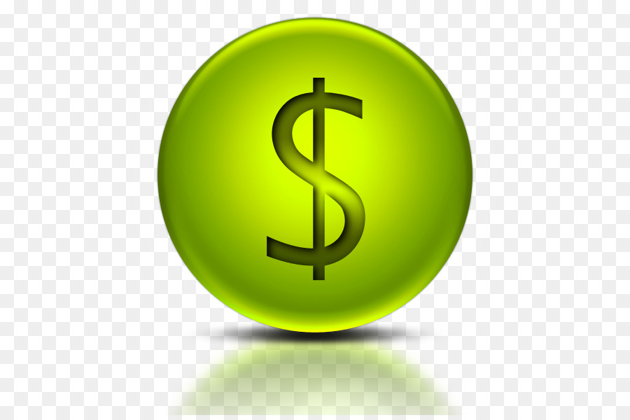 Dollar Sign Icon clipart - Green, Yellow, Product