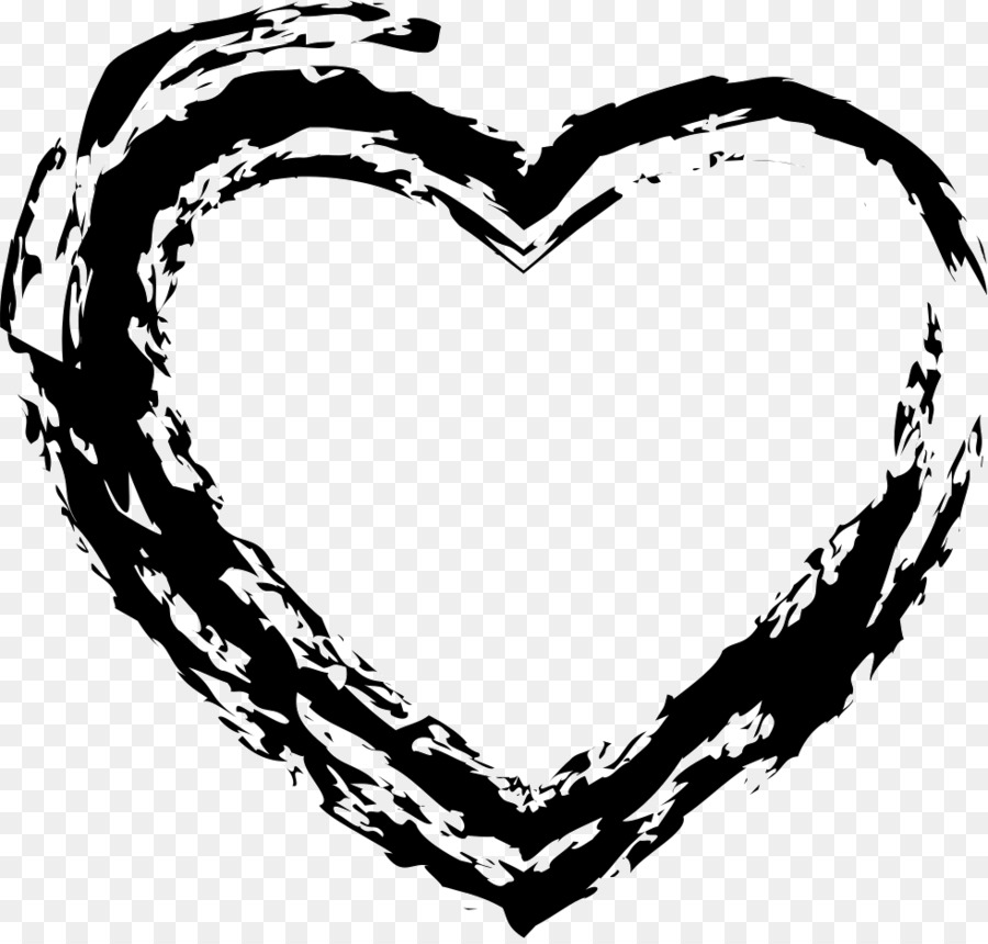 transparent black heart - 981×932