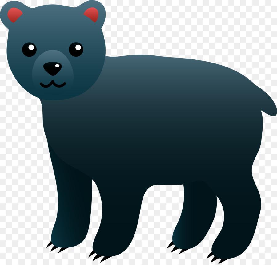 cartoon black bear clipart American black bear Polar bear