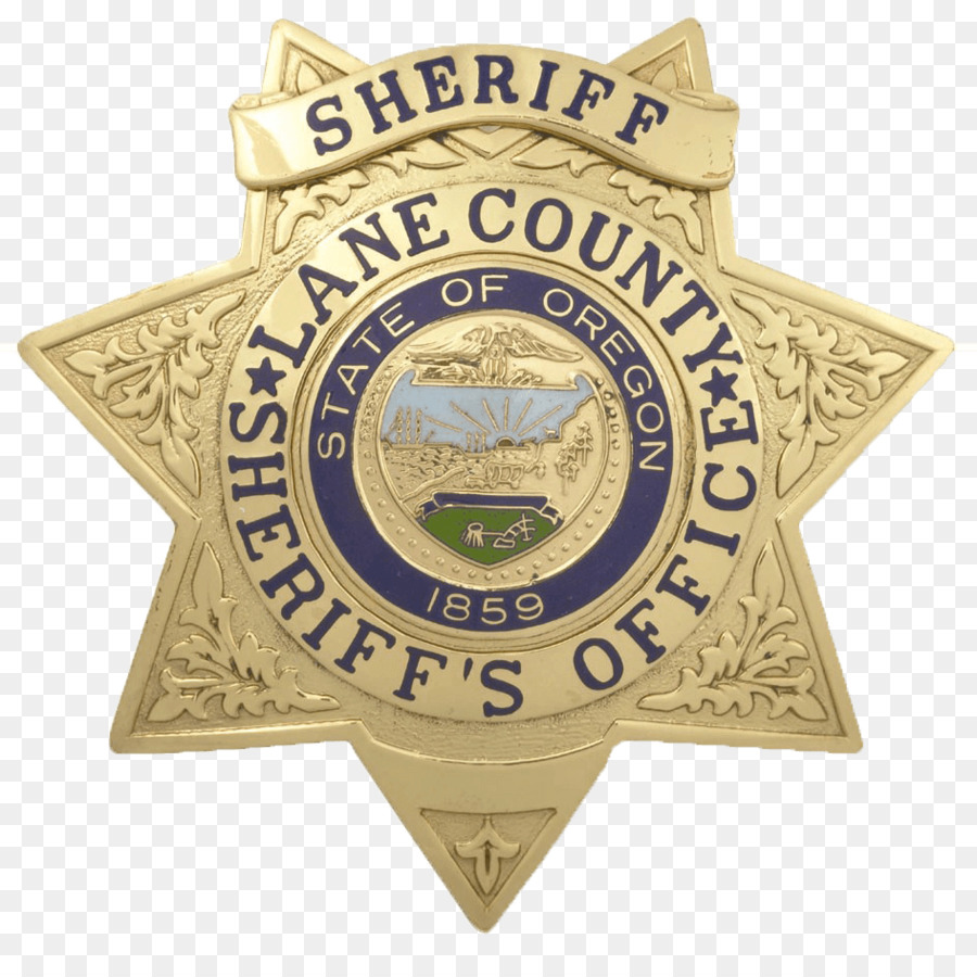 Police badge sheriff. Cartoon clipart award transparent