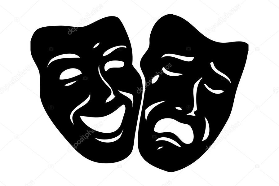 theatre mask drama poster illustration font graphics png