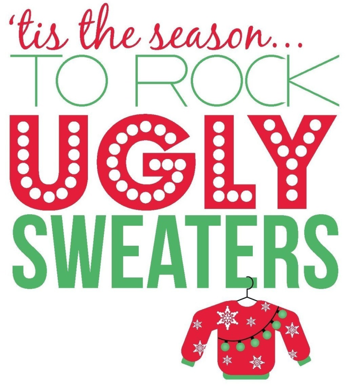 Christmas Sweater Clipart.Ugly Christmas Sweater Clipart Clothing Party Text