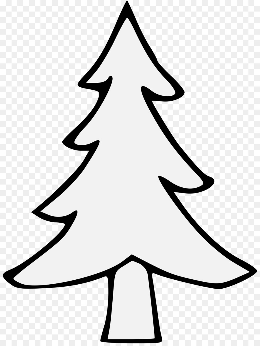 Black And White clipart - Pine, Tree