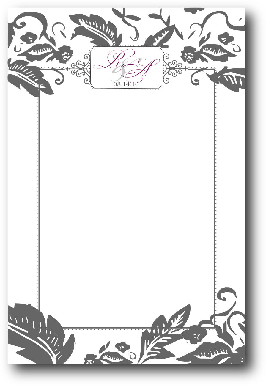 fancy blank menu template clipart Menu Template Restaurant