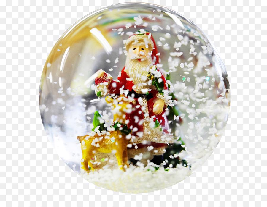 christmas snow globes clipart Santa Claus Christmas ornament Snow Globes