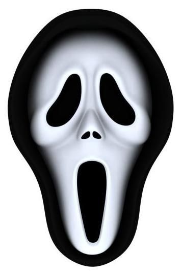 graphic relating to Printable Ghost Face known as Clipart remedy 357*533 - scream mask printable clipart