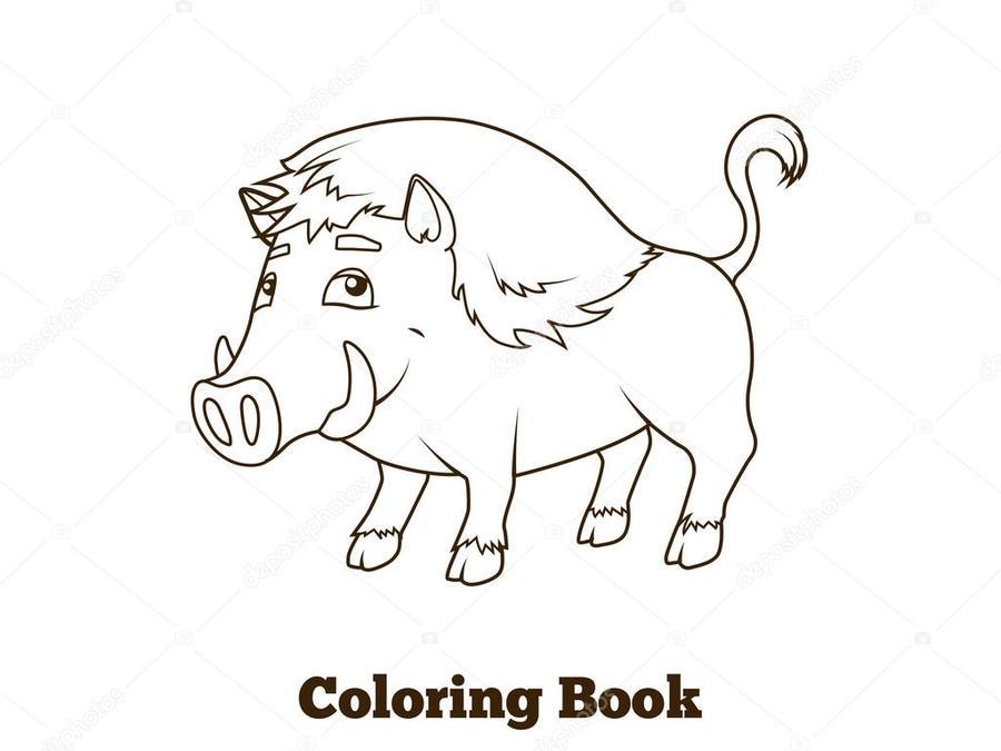 Download toro animado para colorear clipart Coloring book Wild boar ...
