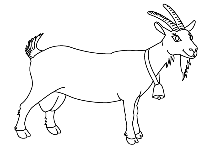 Book Black And White clipart - Goat, Drawing, Goats