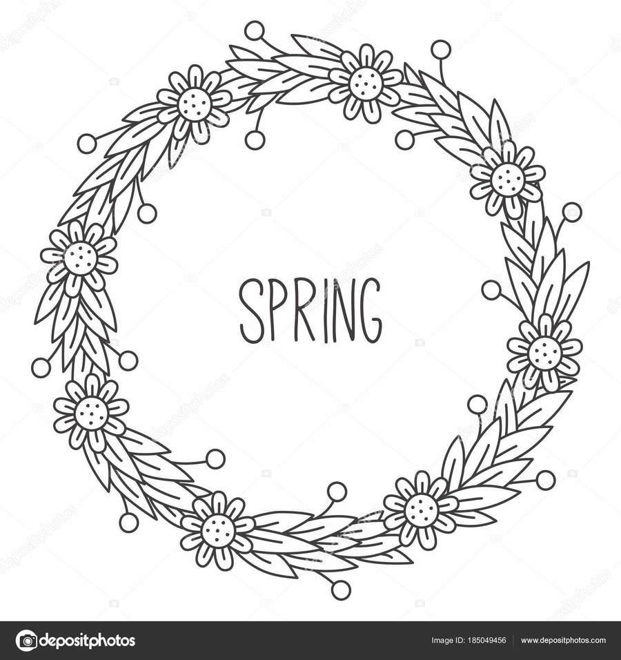 Download flower circle frame doodle clipart Flower Picture Frames ...