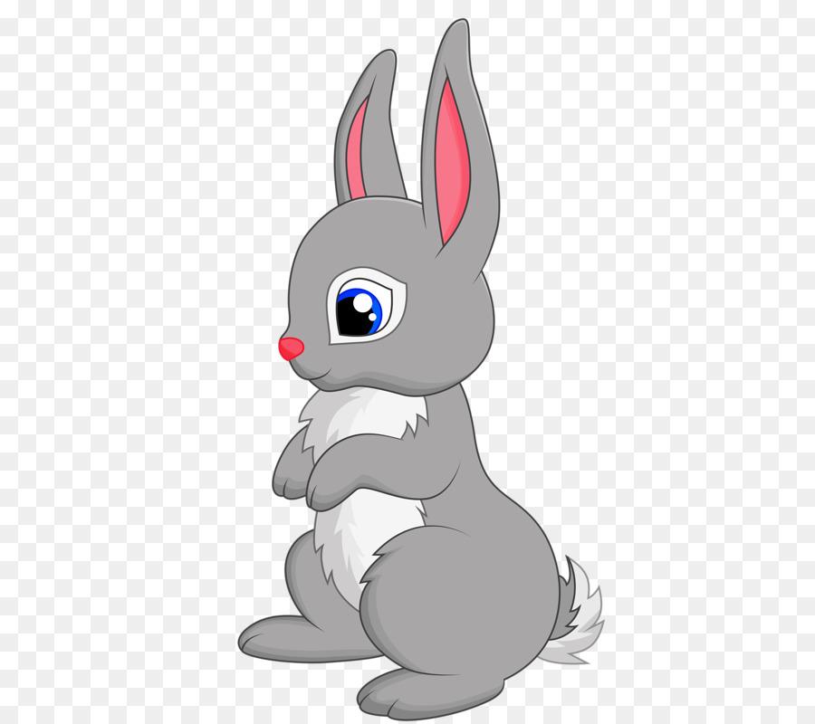 Easter Bunny Background Clipart Rabbit Cartoon Illustration Transparent Clip Art
