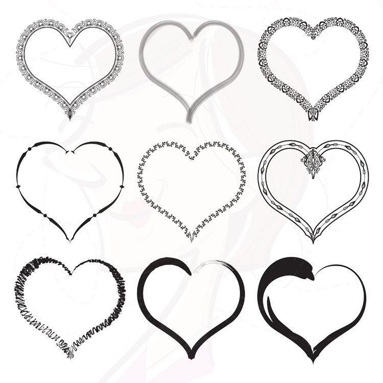 Download Free Vintage Heart Clipart Borders And Frames Clip Art