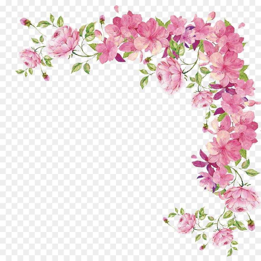 Download Pink Flower Border Clipart Pink Flowers Rose Flower Rose