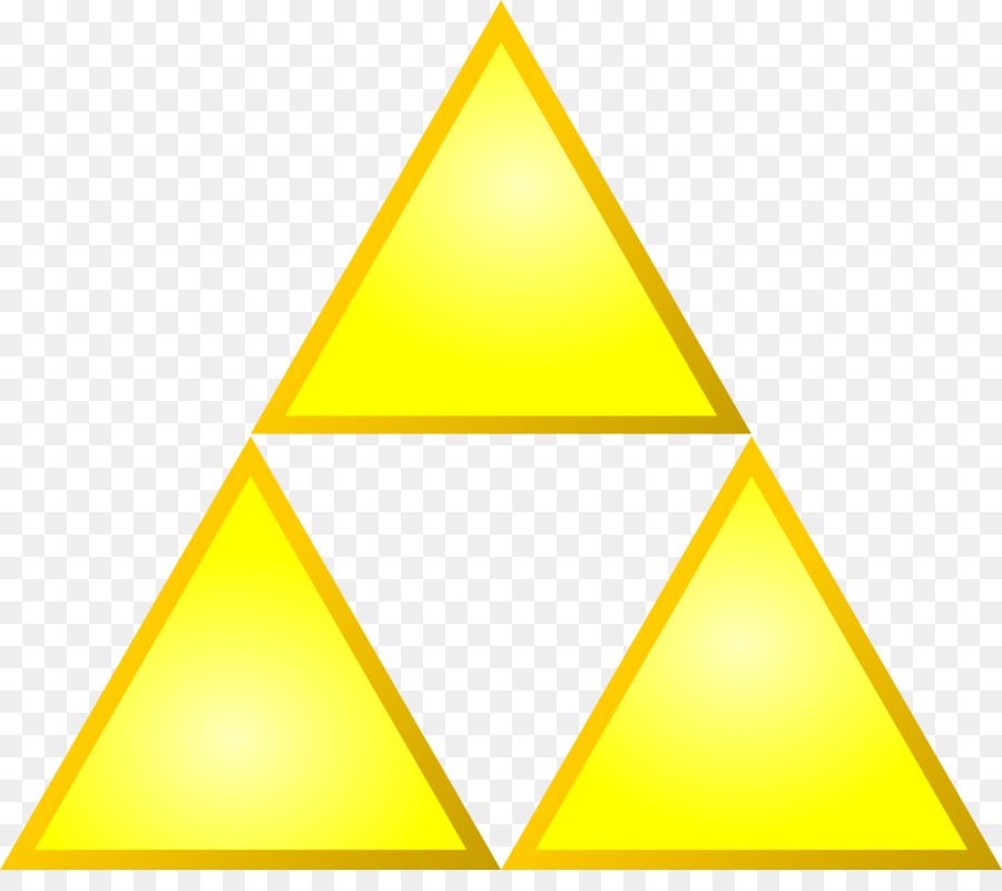 Triforce clip art. Triangle background clipart yellow