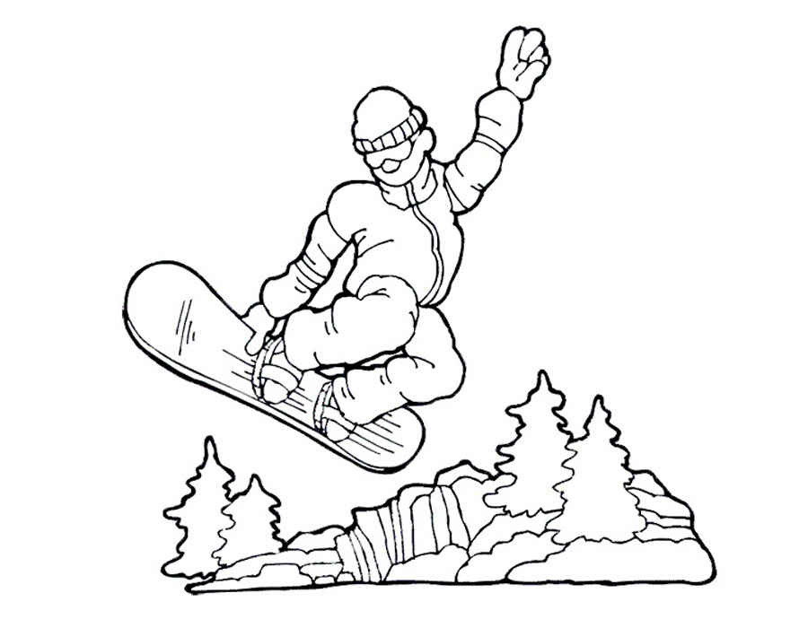 Sports Drawing Snowboarding White Person Hand Cartoon Finger