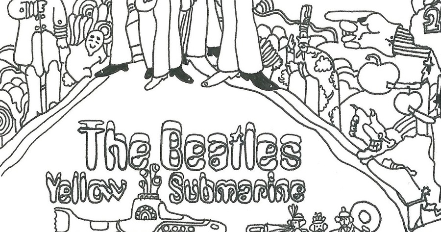 Download beatles coloring book clipart Coloring book The Beatles ...