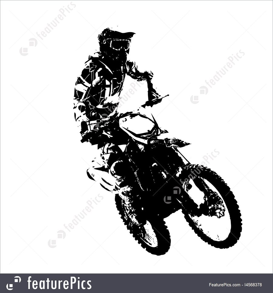 Download Moto Enduro Vector Clipart Motocross Motorcycle