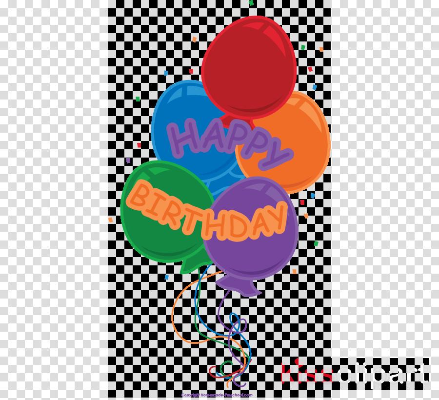 Happy Birthday Balloon Trnsparent Clipart Decorative Borders Clip Art