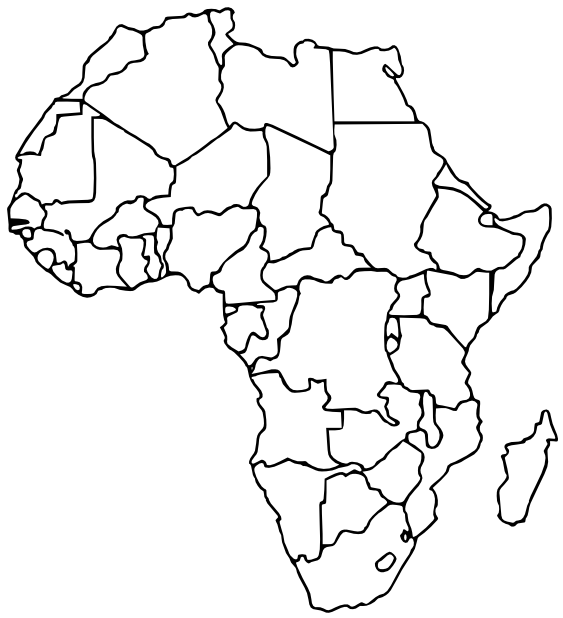Border Design Black And White clipart   Africa, Map, Geography