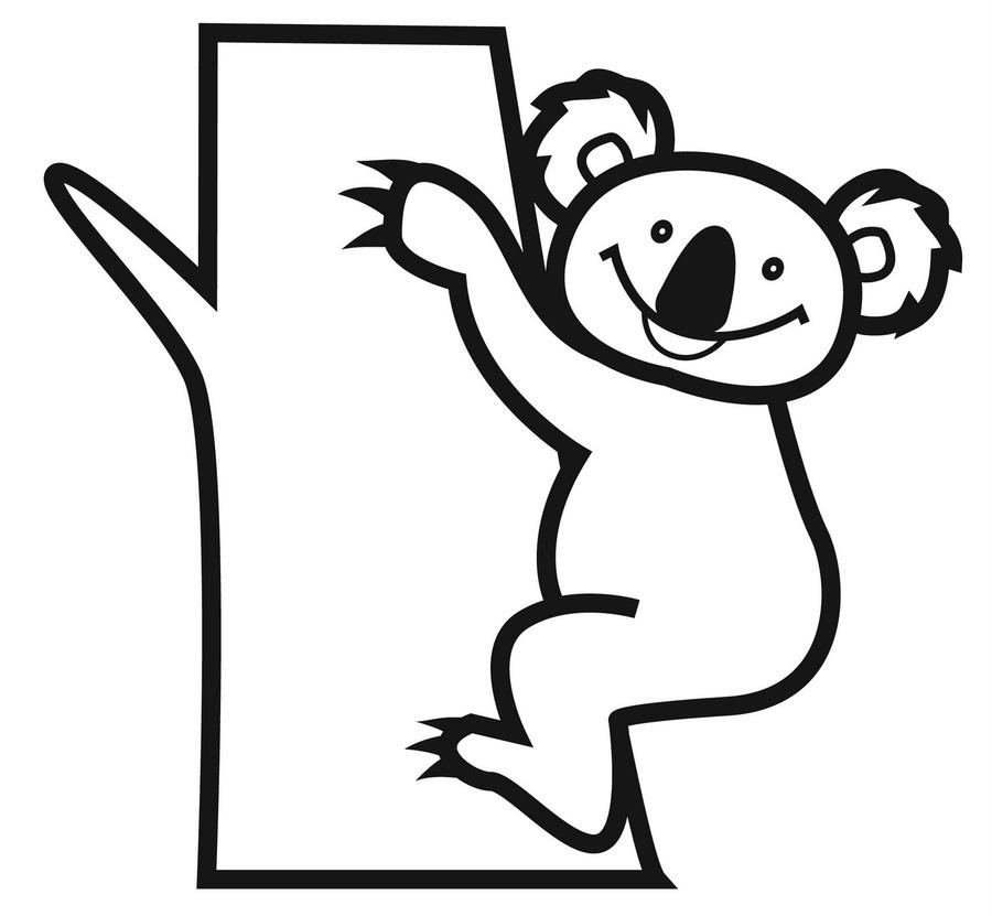 Download koala para colorear infantil clipart Koala Bear Coloring ...