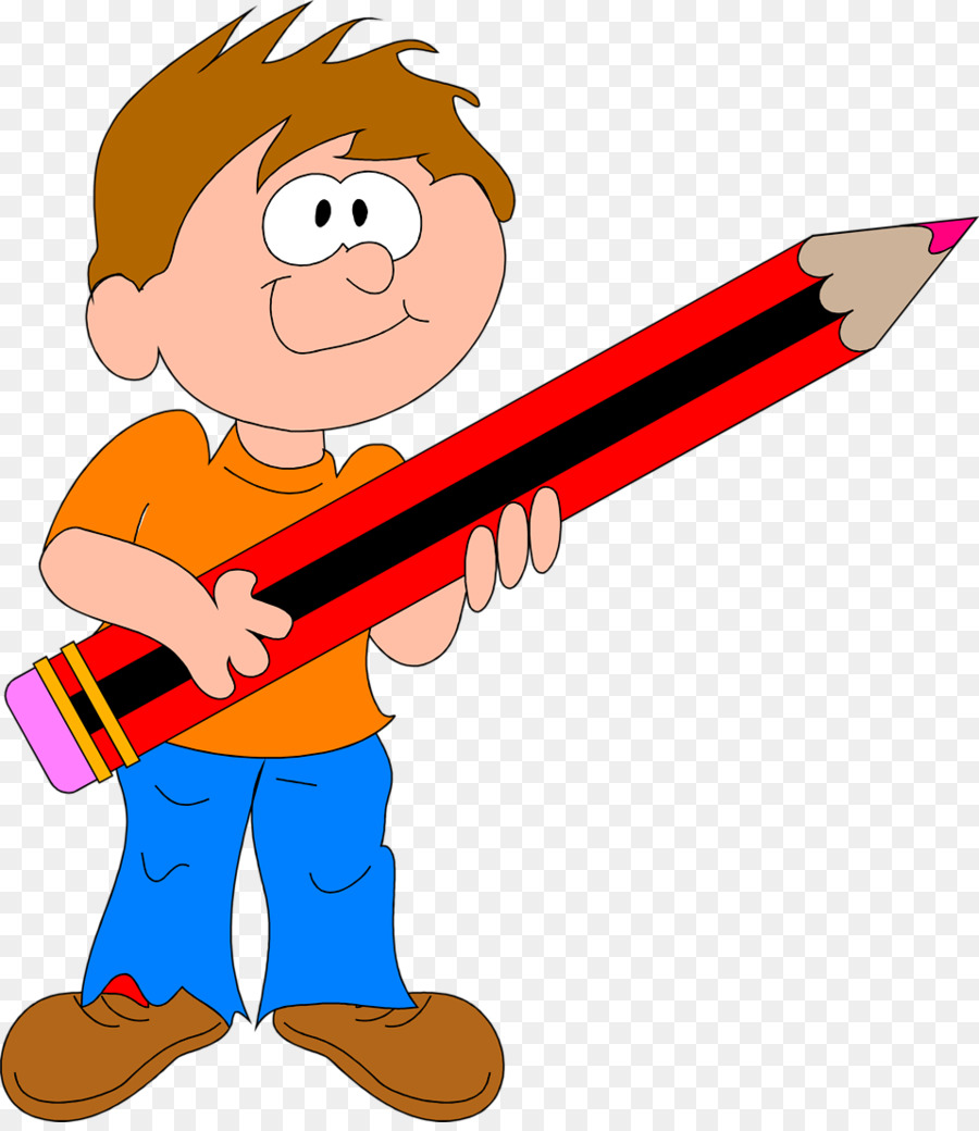Boy with pencil png clipart drawing clip art