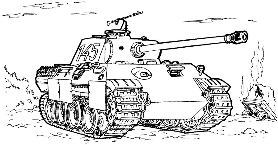 Download Ww2 Tank Coloring Page Clipart World War Ii Colouring Pages - Ww2-coloring-pages