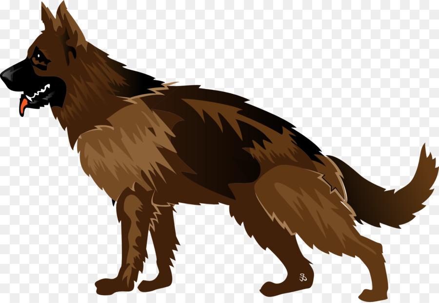 vector art dog clipart German Shepherd Australian Shepherd