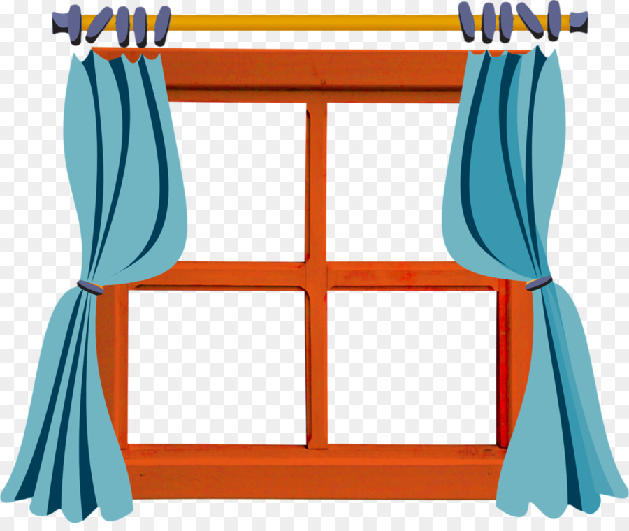Kitchen Window Clip Art: Cartoon, Blue, Line, Transparent