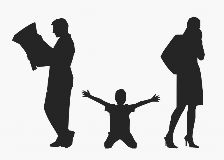 Family Silhouette clipart - Child, Mother, Father, transparent clip art