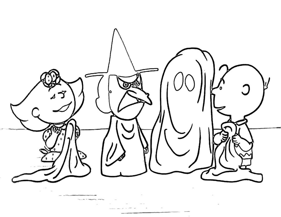 Download Charlie Brown Halloween Coloring Pages Clipart
