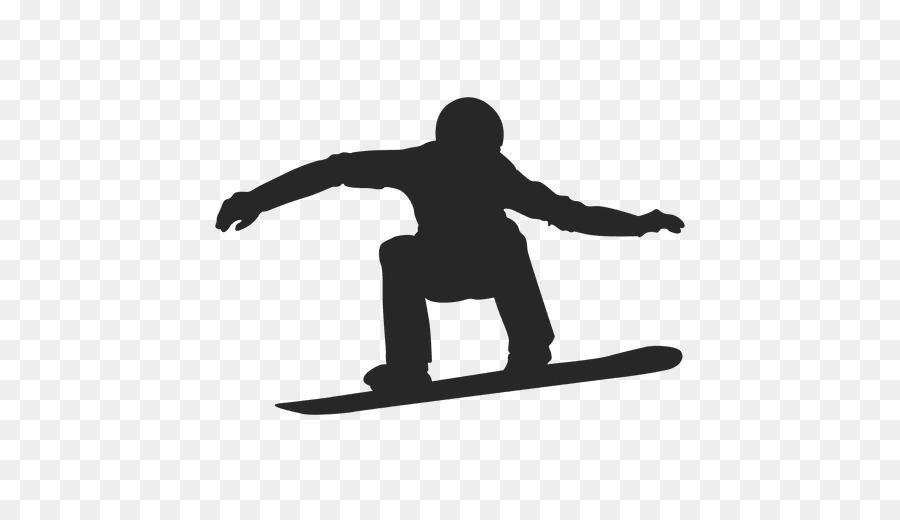 White Background Clipart Silhouette Snowboarding Graphics Transparent Clip Art