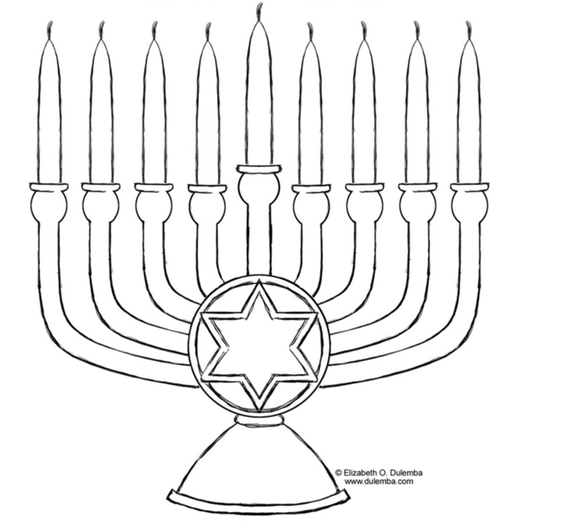 4 Hanukkah coloring pages you can print and share with your kids | 739x800