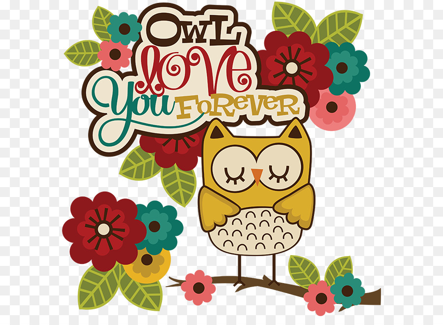 owl love you forever 5'x7'area rug clipart Owl Love Clip art