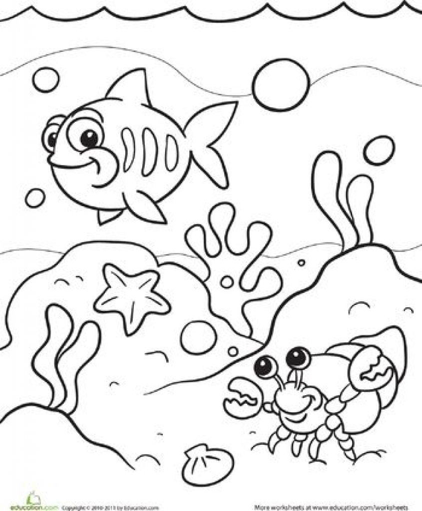 Download under the sea coloring pages clipart Coloring book ...